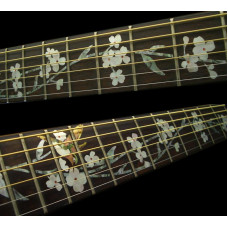 Fret marker decals for Guitar - Tree of Life with Hummingbird - JIS-93