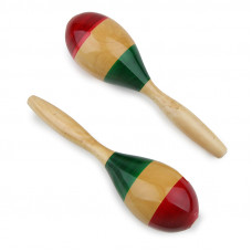 Mini mexican hardwood maracas - E739
