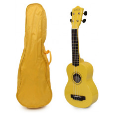 Yellow Soprano Ukulele and Bag Package - EUB-1500