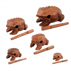 Frog Family set of 5 guiros - G-FROG FAMILY