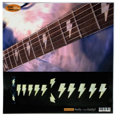 Fret marker decals for Guitar - AC/DC Bolt in Pearly White