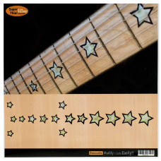 Fret marker decals for Guitar - Stars in Pearly White