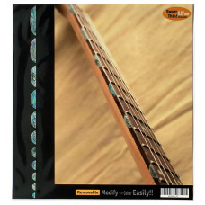 Side fret marker decals for Guitar - Thumbnail in Mixed Blue