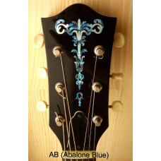 Gothic Torch inlay decal - Abalone  - JIS-108