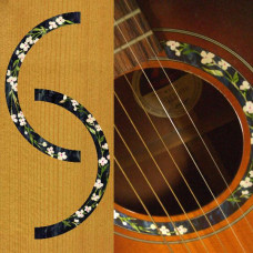 Guitar rosette inlay decals - Flowers - JIS-130
