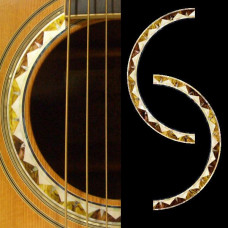 Guitar rosette inlay decals - Santa Fe  - JIS-131