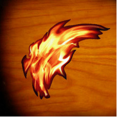 Real Fire tiny flame inlay decal - JIS-23