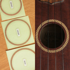 Herringbone rosette decal for Concert ukulele - JIS-72