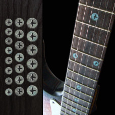 Fret marker inlay decals for Guitar - Rusty Screws - JIS-84