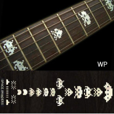 Fret marker Decals for guitar, 'Space Invaders' - JIS-85