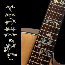 Fret marker decals for Guitar - Vine with Hummingbird - JIS-94