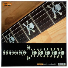 Fret marker decals for Guitar - Skulls Pearly