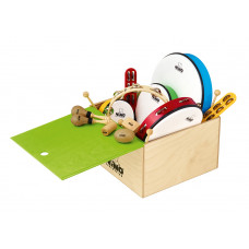 NINO 12-piece rhythm set with wooden box - NINOSET012-WB