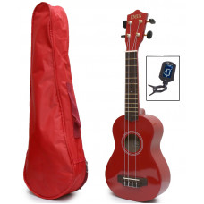 Red Soprano Ukulele, bag & tuner - UBT-5000